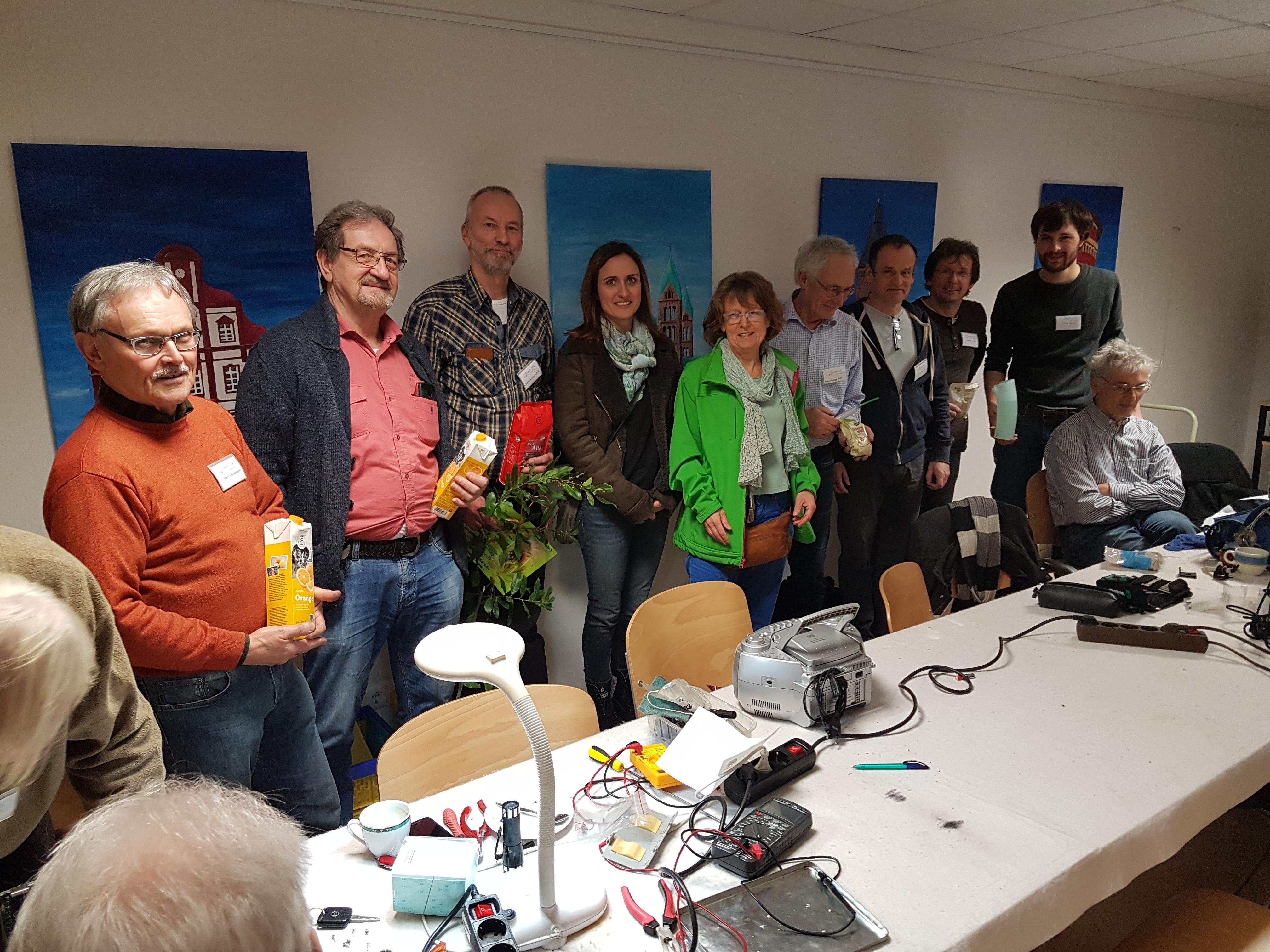 Unseren Glückwunsch an das Repair-Café Speyer zum Umweltpreis