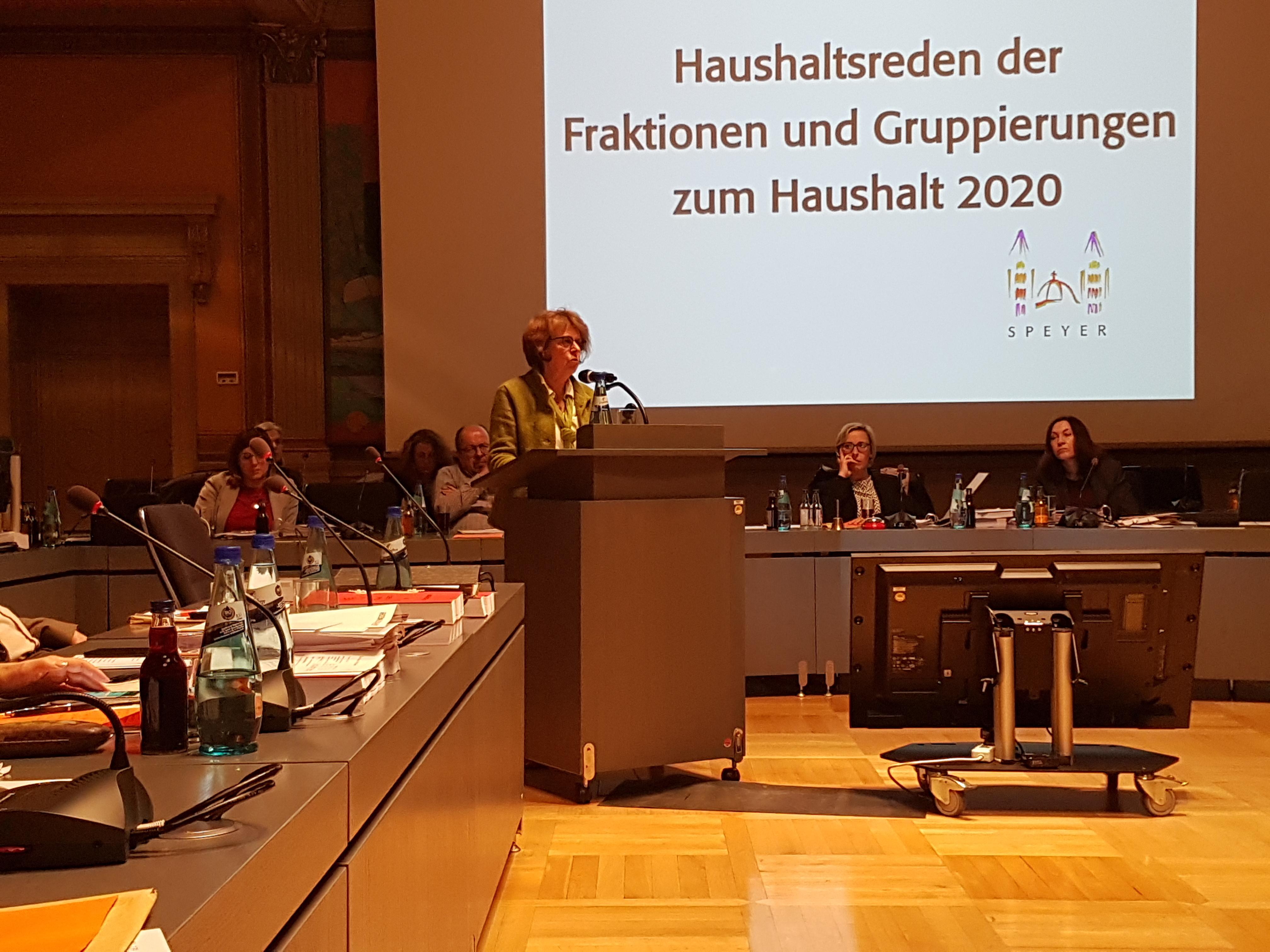 Haushaltsrede / Irmgard Münch-Weinmann