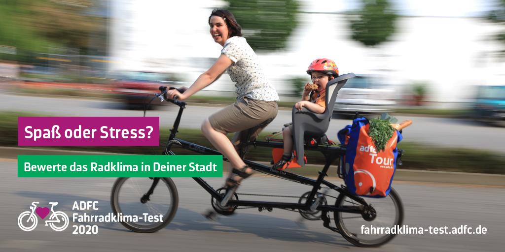 Mach mit beim Fahrradklimatest 2020!