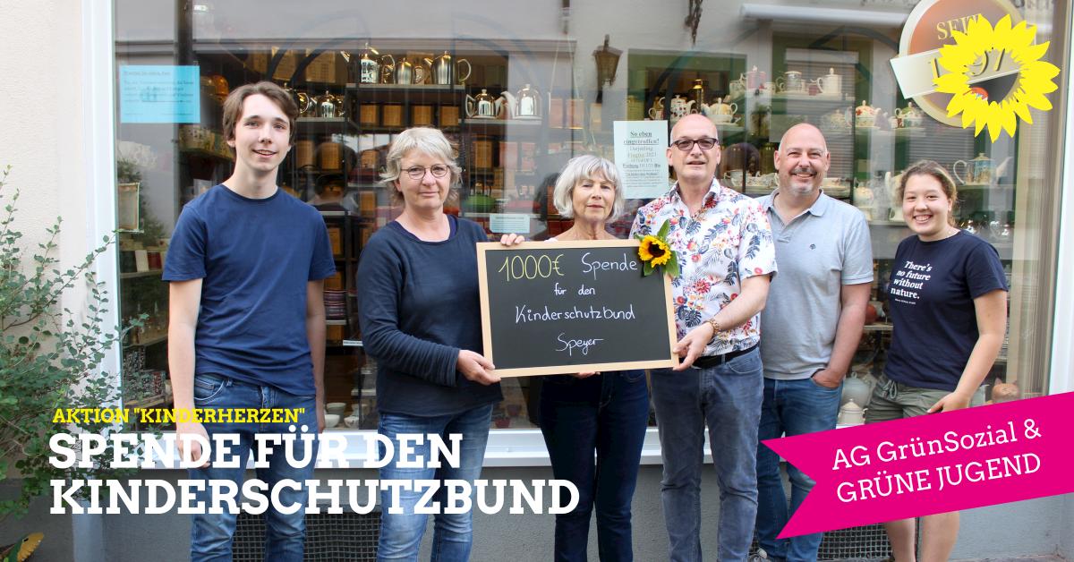 """Pressemitteilung: GRÜNE Spendenaktion """"Kinderherzen"""" war ein großer Erfolg!"""