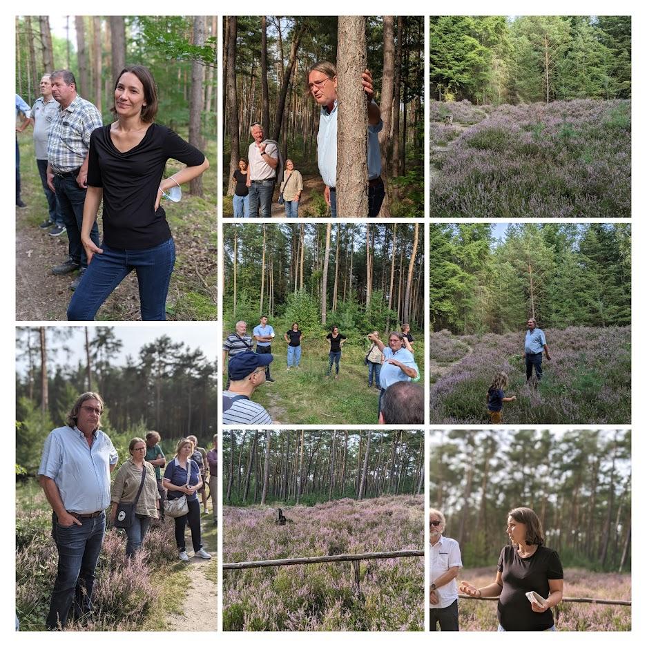 Waldbegehung mit Anne Spiegel und Hannah Heller